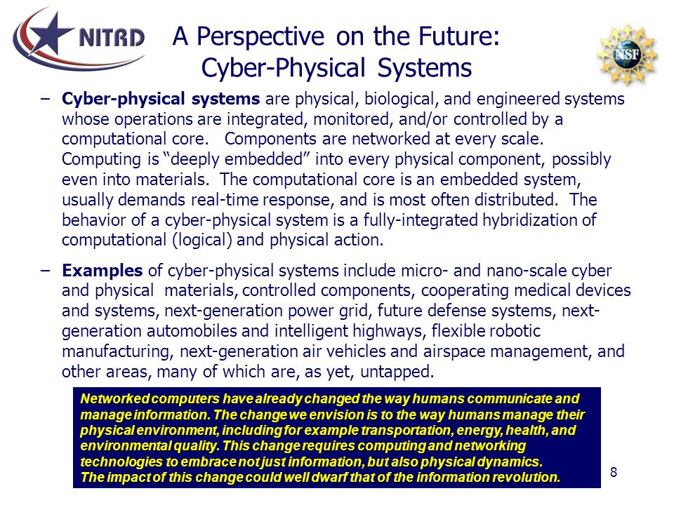 A Perspective on the Future: Cyber-Physical Systems