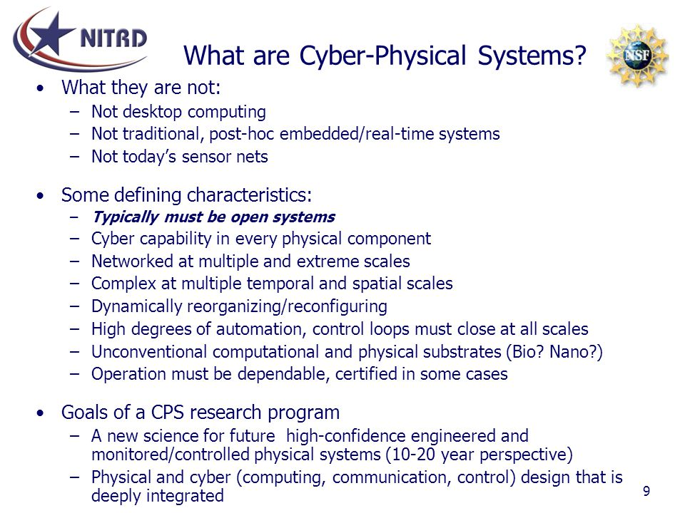 What are Cyber-Physical Systems
