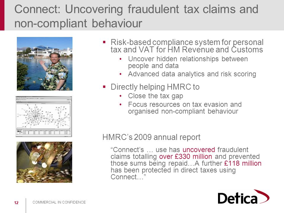 Connect: Uncovering fraudulent tax claims and non-compliant behaviour