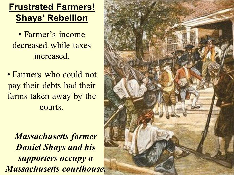 • Farmer's income decreased while taxes increased.
