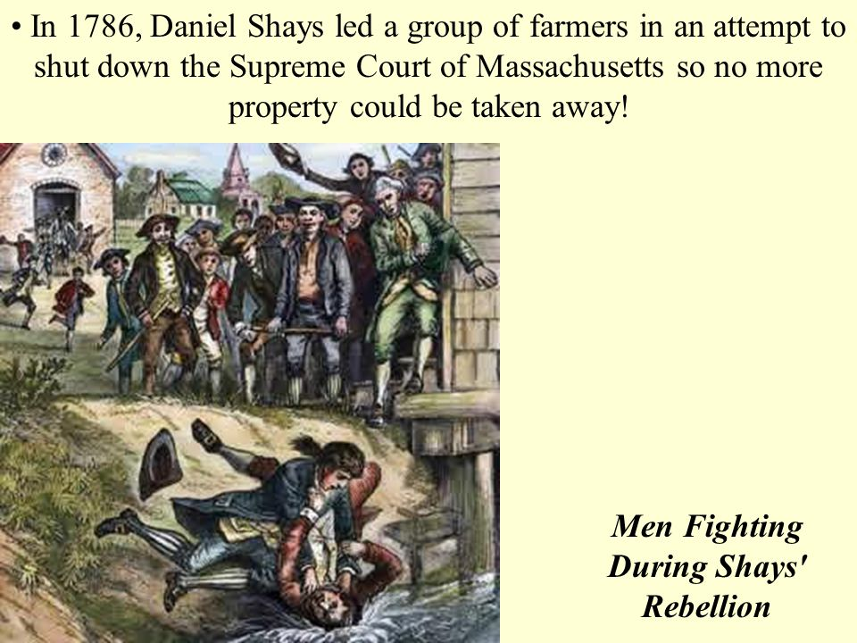 Men Fighting During Shays Rebellion