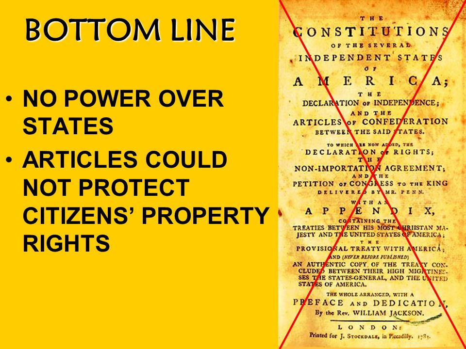 BOTTOM LINE NO POWER OVER STATES