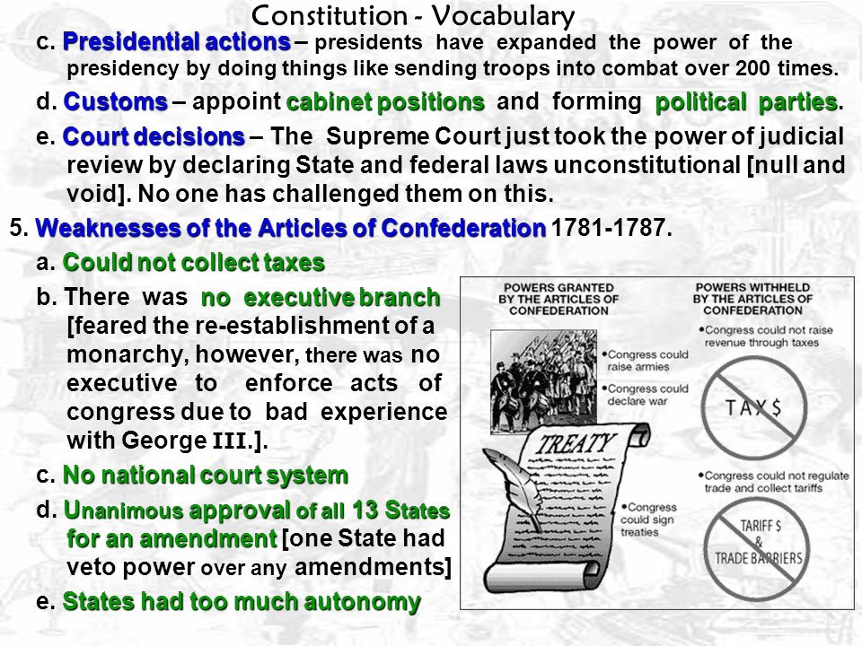 Constitution - Vocabulary