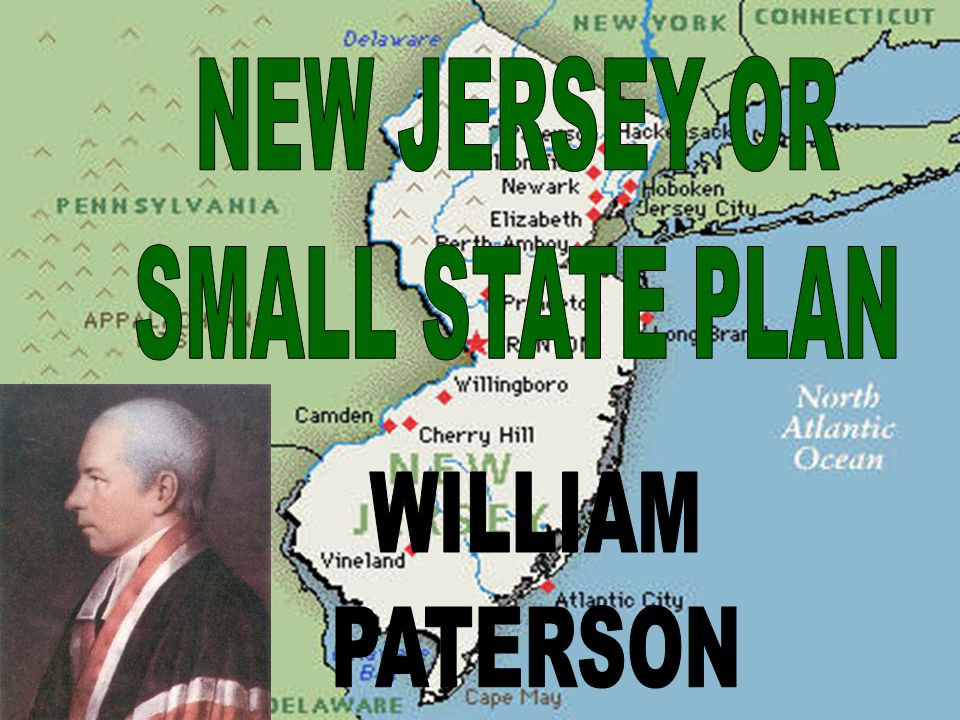 NEW JERSEY OR SMALL STATE PLAN WILLIAM PATERSON