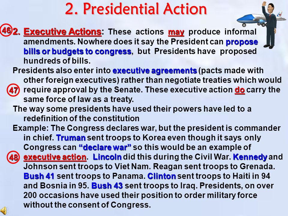 2. Presidential Action 46.