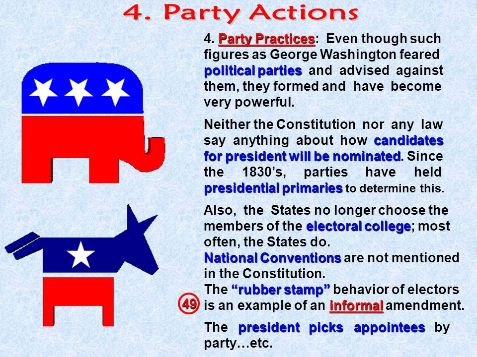 4. Party Actions