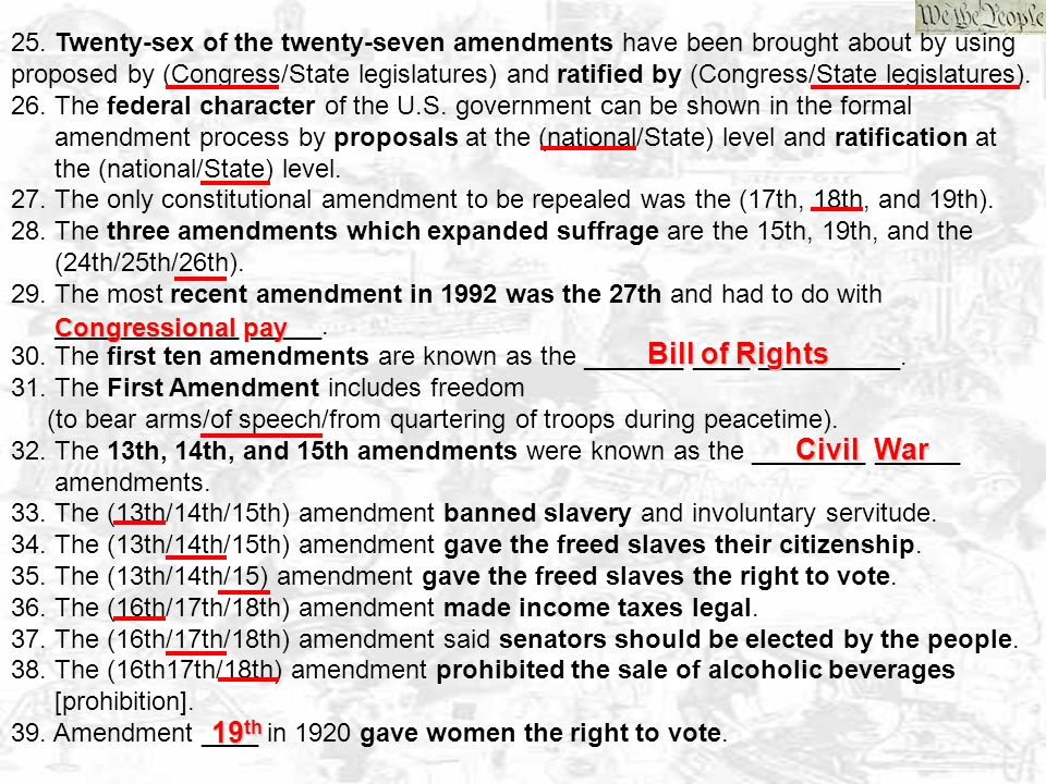 Bill of Rights Civil War 19th