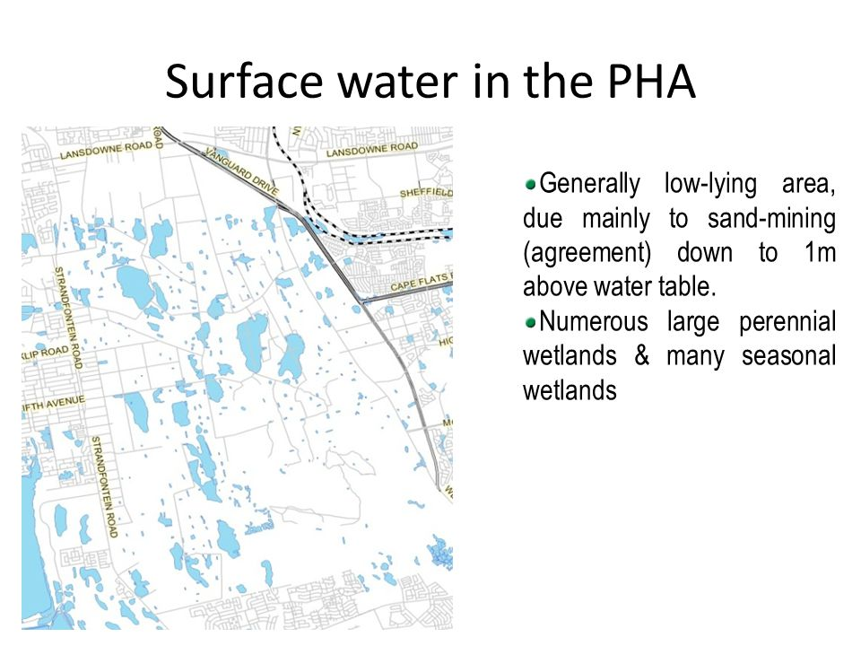Surface water in the PHA