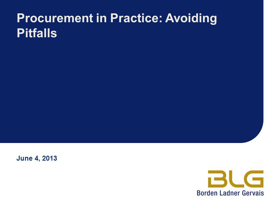 Procurement in Practice: Avoiding Pitfalls