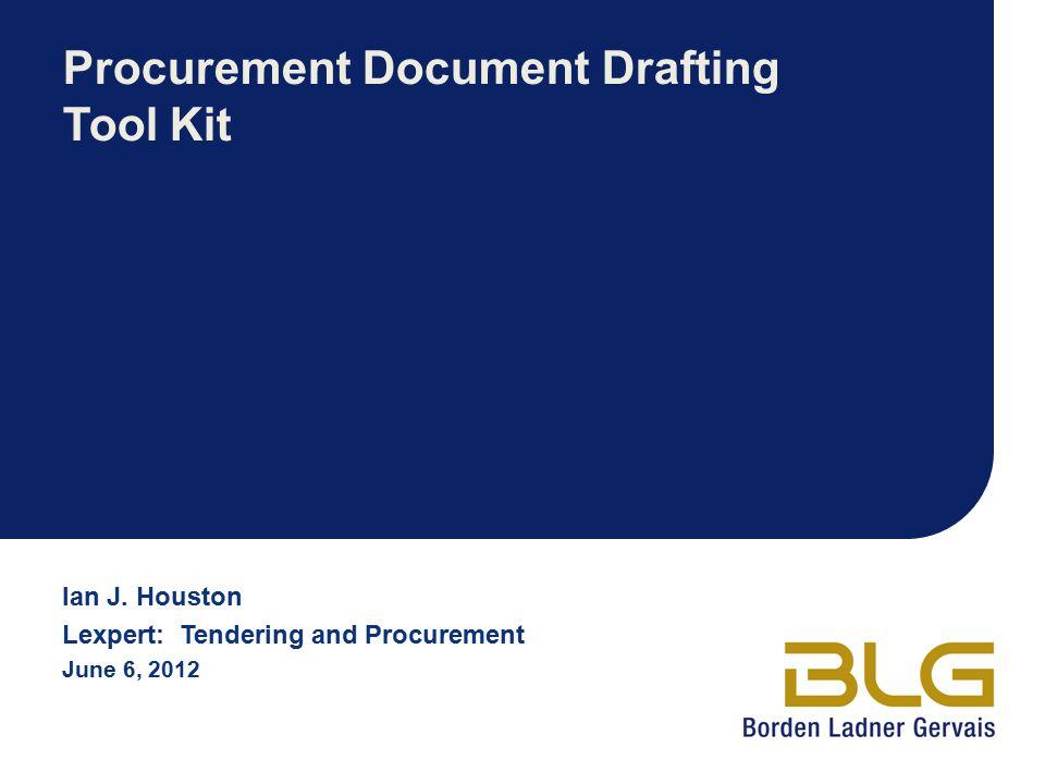 Procurement Document Drafting Tool Kit