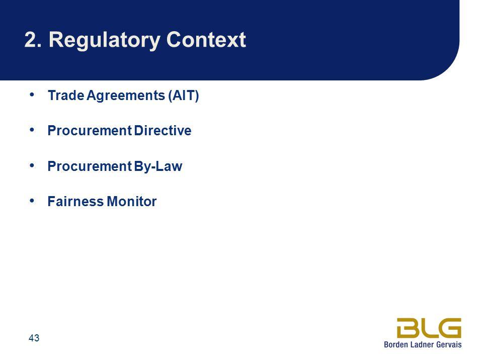 2. Regulatory Context Trade Agreements (AIT) Procurement Directive