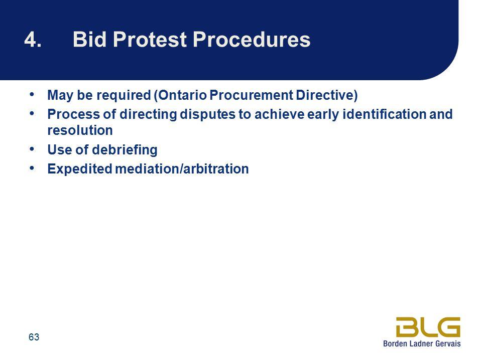 4. Bid Protest Procedures