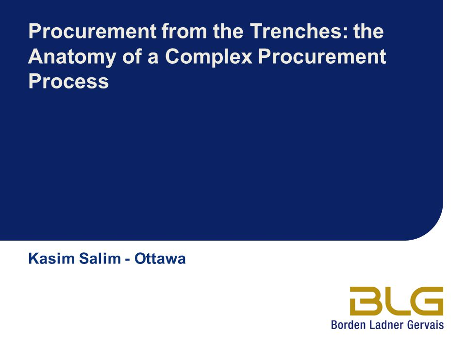 Procurement from the Trenches: the Anatomy of a Complex Procurement Process
