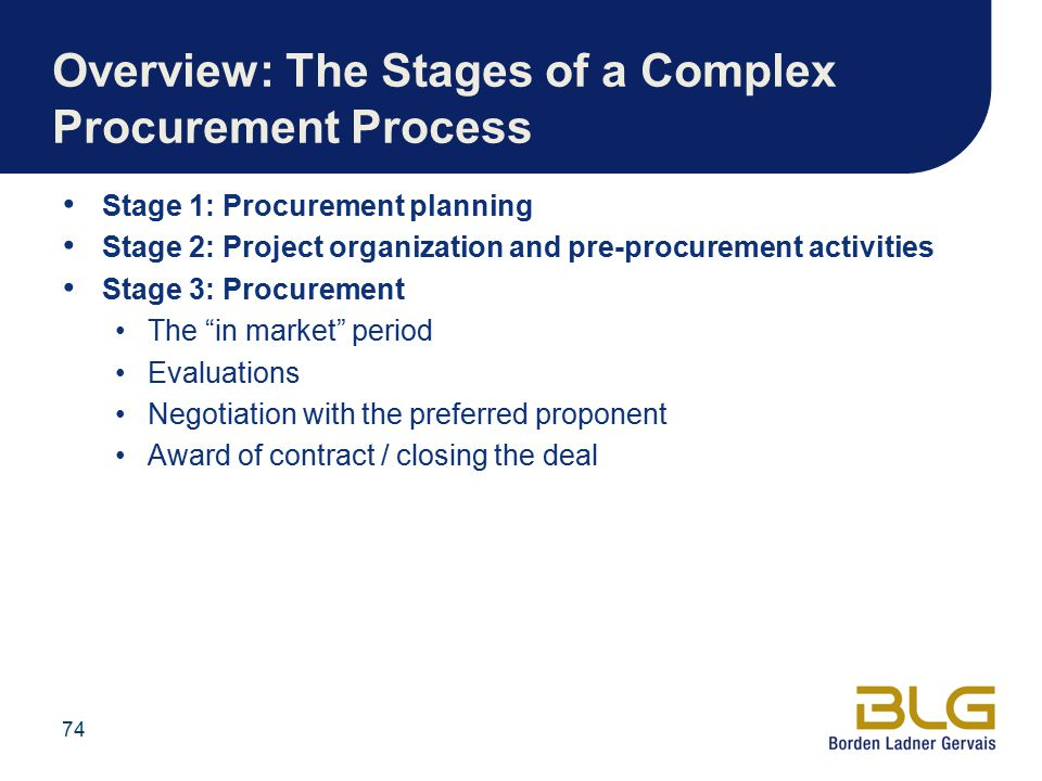 Overview: The Stages of a Complex Procurement Process