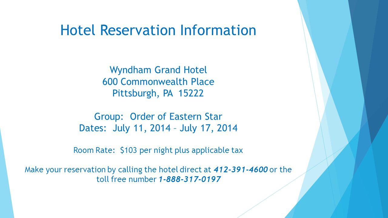 Hotel Reservation Information