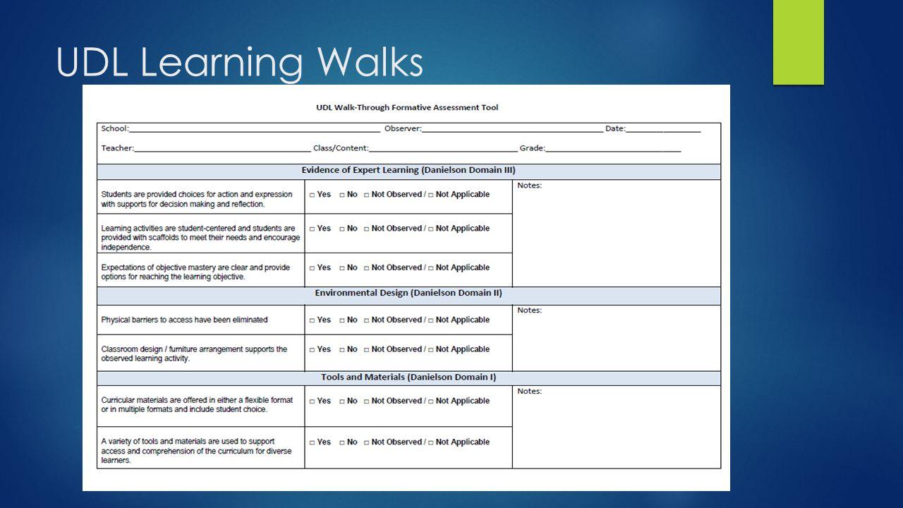 UDL Learning Walks