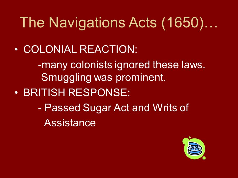 The Navigations Acts (1650)…