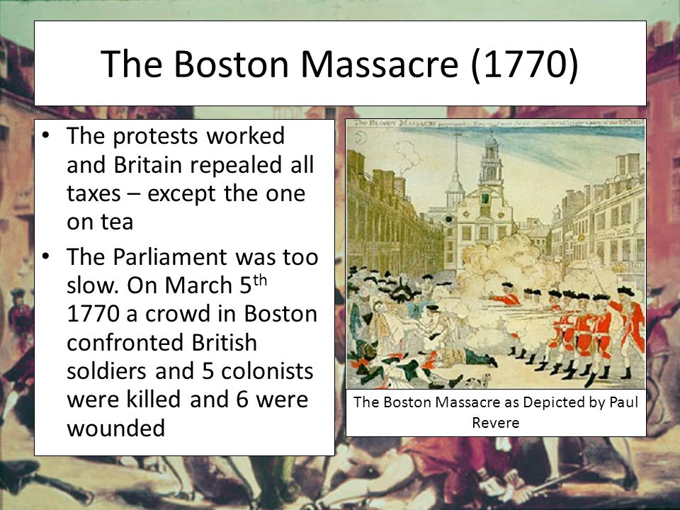 The Boston Massacre as Depicted by Paul Revere