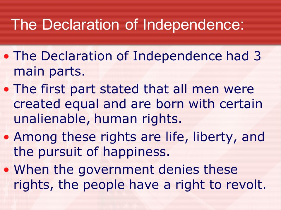 The Declaration of Independence: