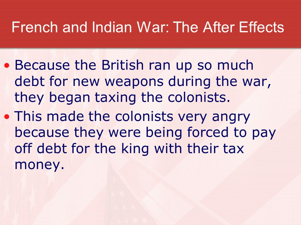 French and Indian War: The After Effects