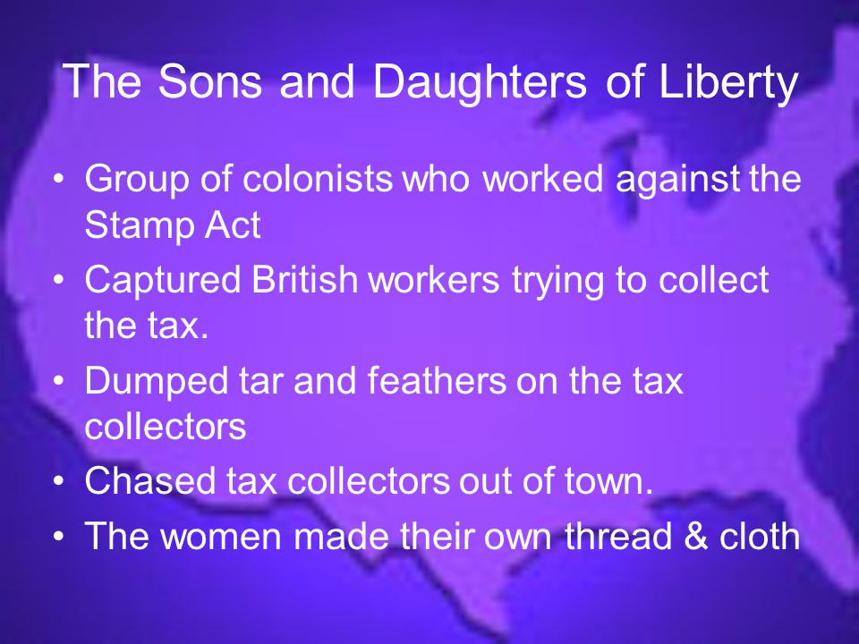 The Sons and Daughters of Liberty