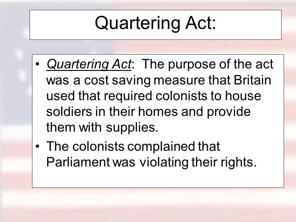 Quartering Act: