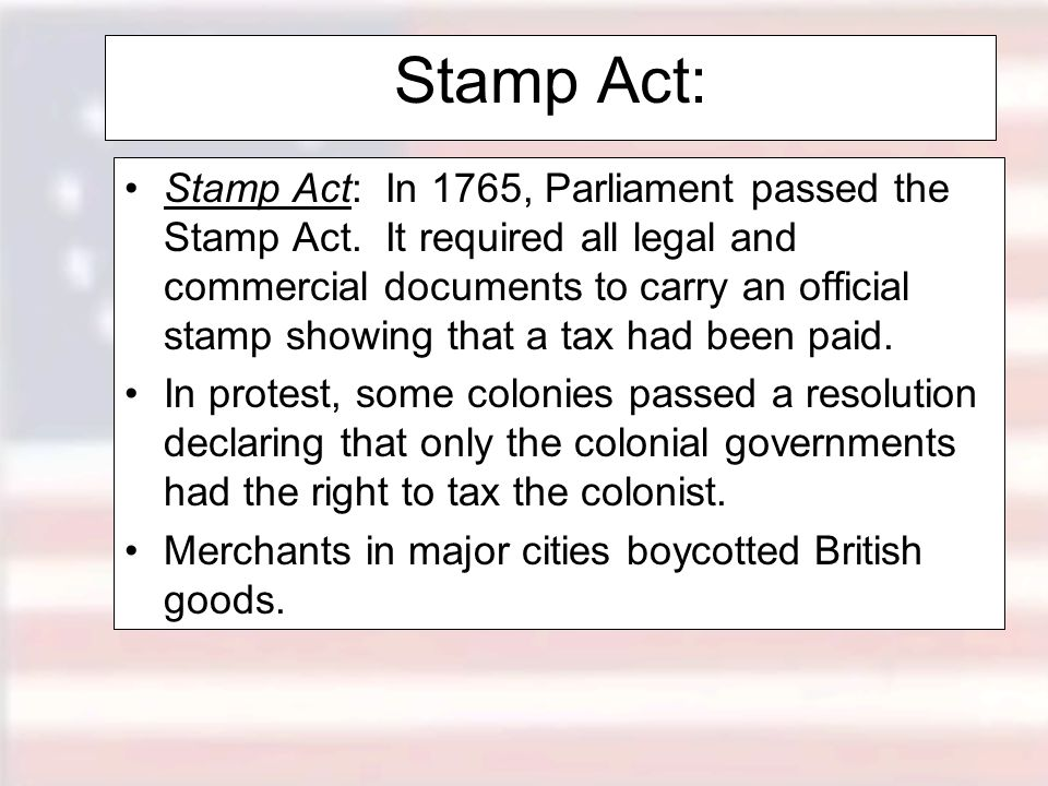 Stamp Act: