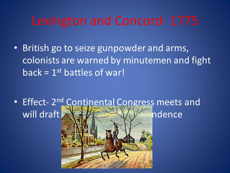 Lexington and Concord- 1775