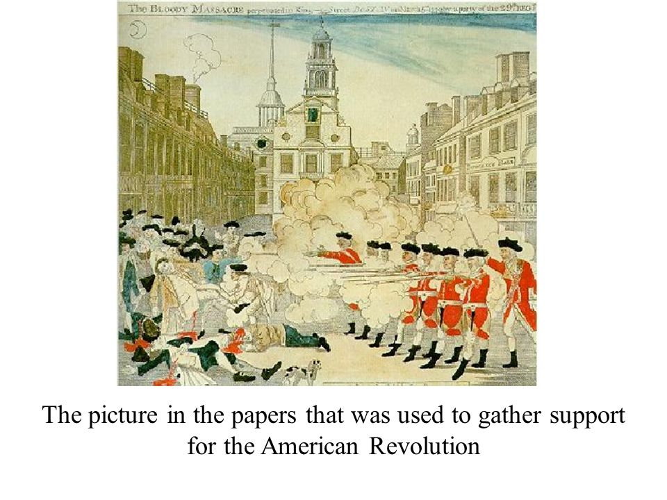 The picture in the papers that was used to gather support for the American Revolution