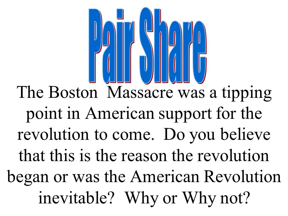 why was the revolutionary war inevitable