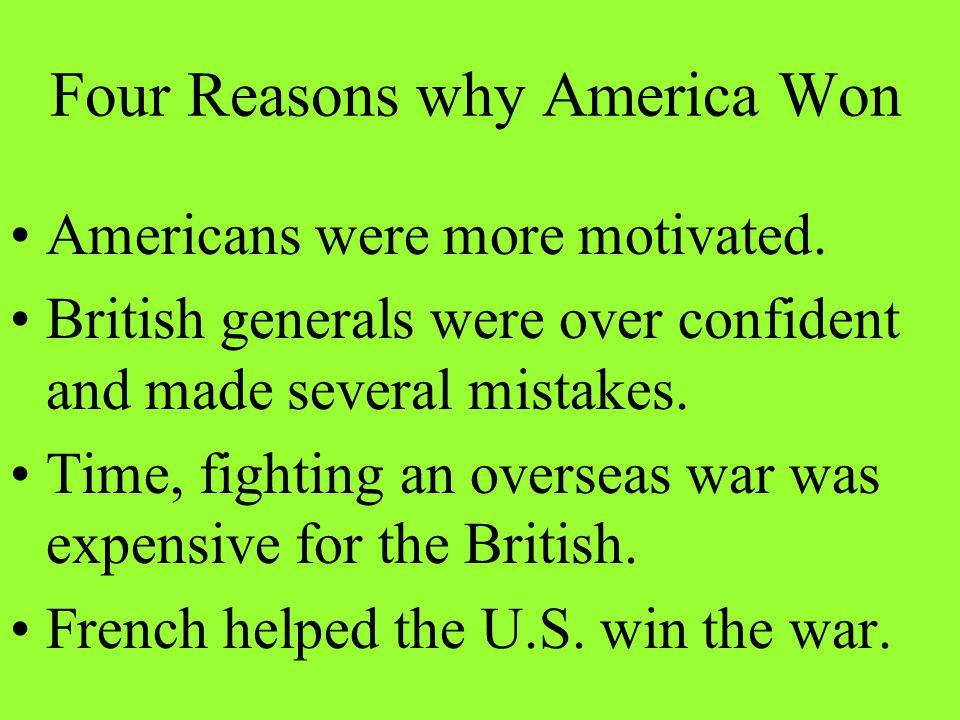 Four Reasons why America Won