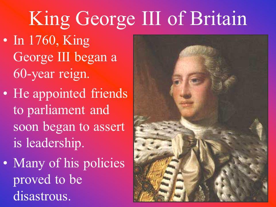 King George III of Britain