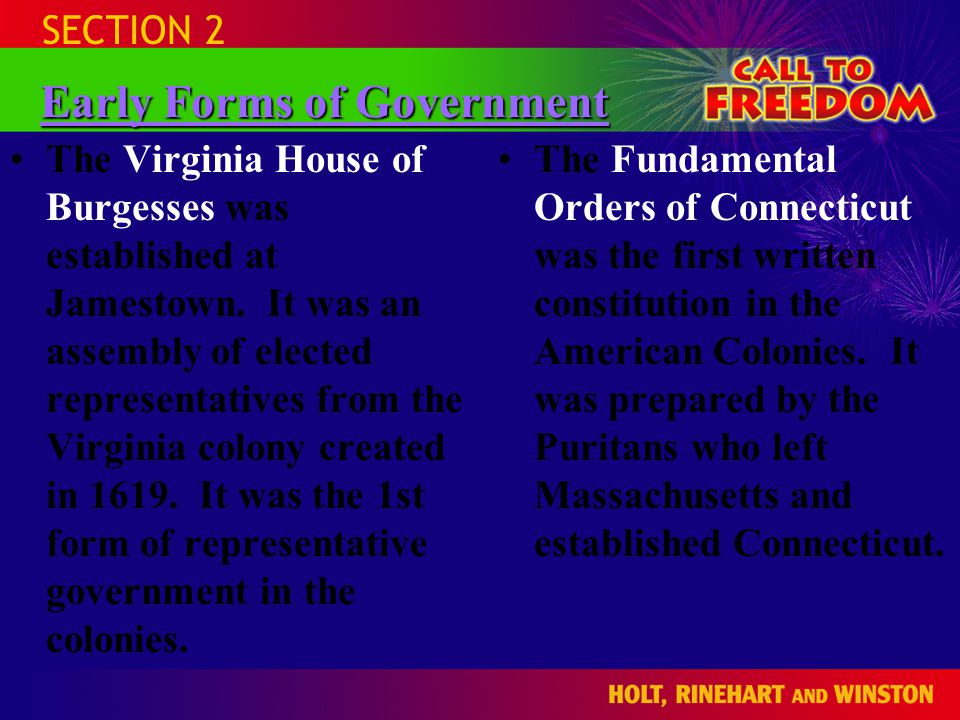 Early Forms of Government