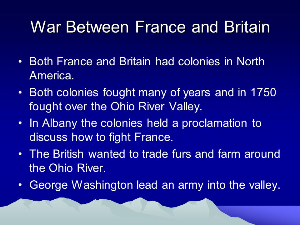 War Between France and Britain