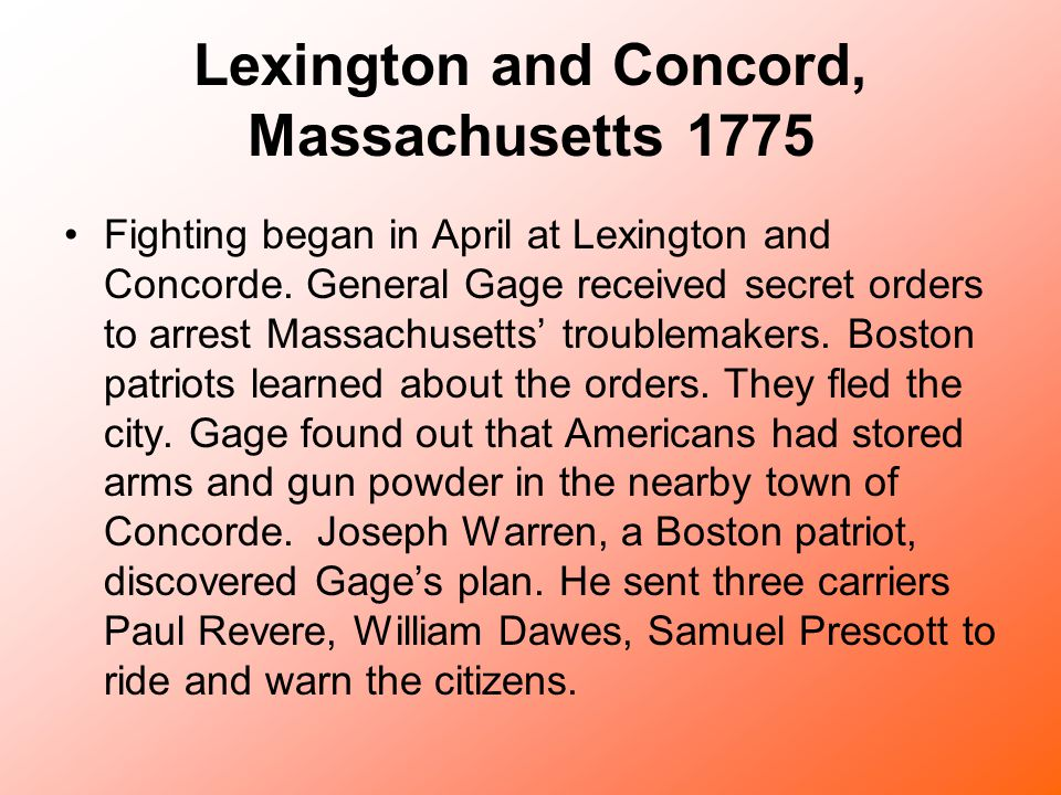 Lexington and Concord, Massachusetts 1775