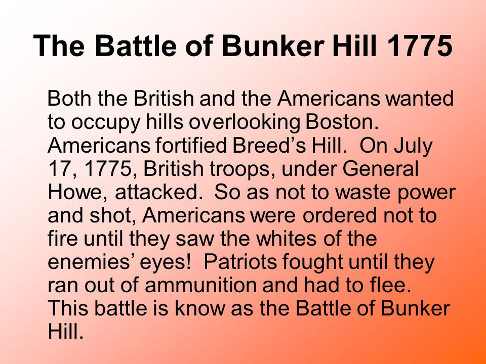 The Battle of Bunker Hill 1775