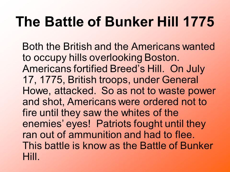 The Battle of Bunker Hill 1775