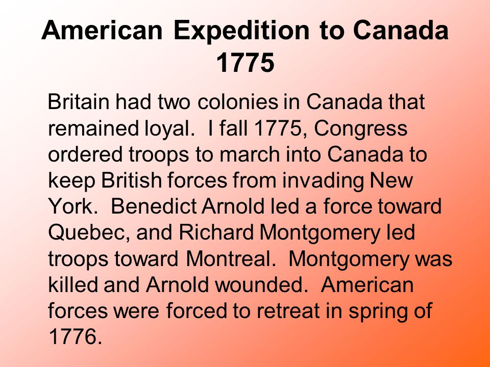 American Expedition to Canada 1775