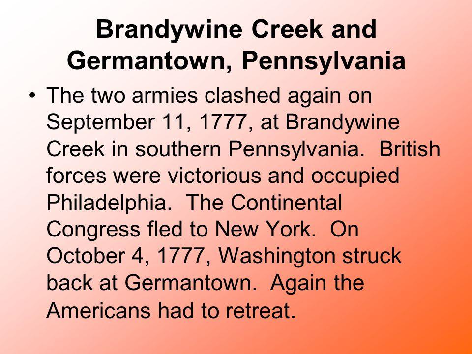 Brandywine Creek and Germantown, Pennsylvania