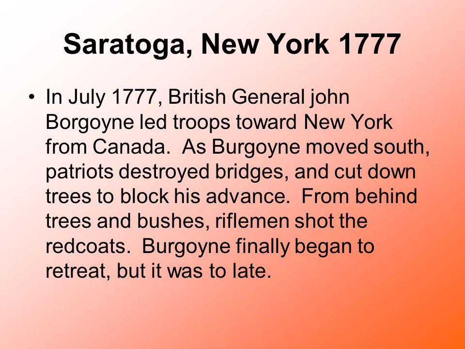 Saratoga, New York 1777