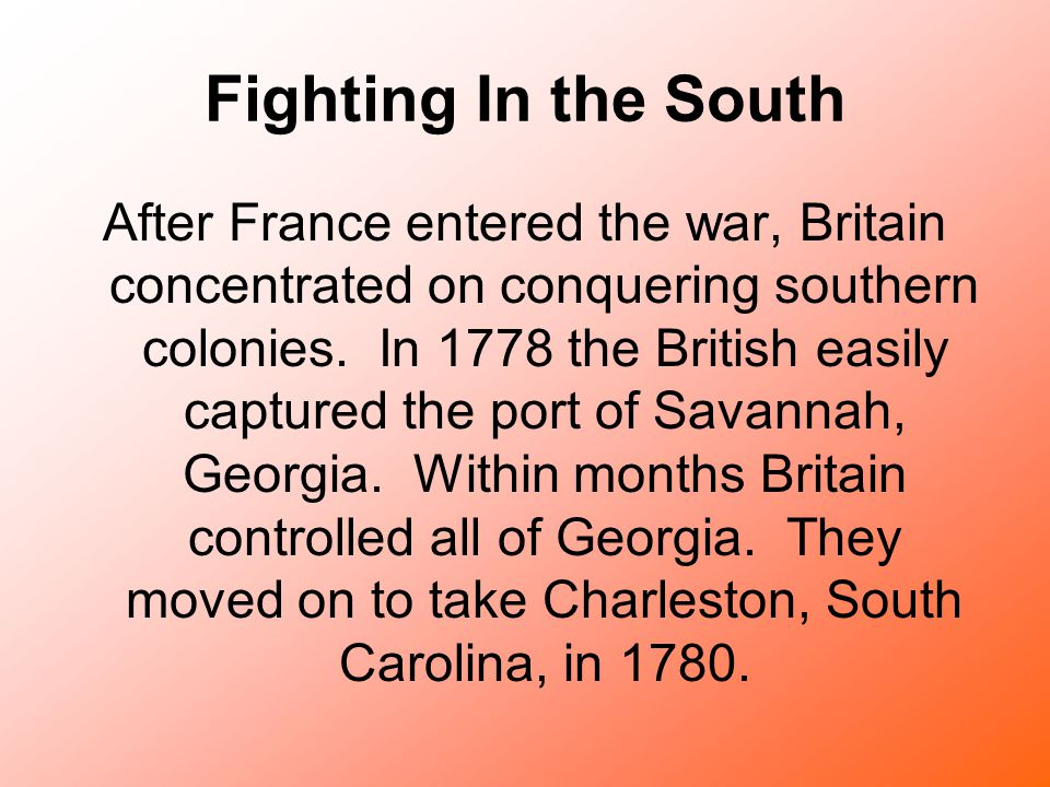 Fighting In the South