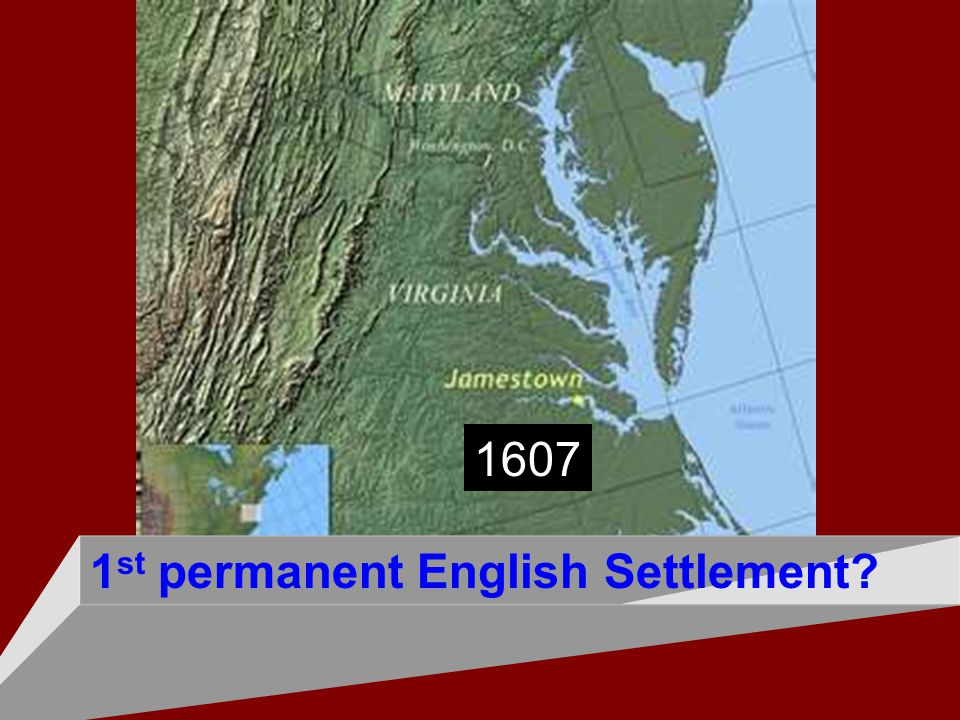 1st permanent English Settlement