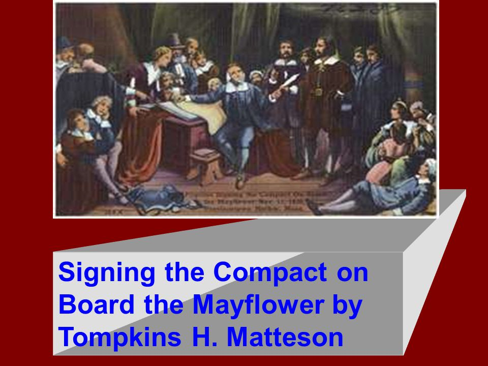 Signing the Compact on Board the Mayflower by Tompkins H. Matteson