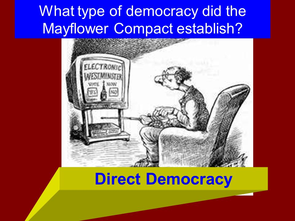What type of democracy did the Mayflower Compact establish