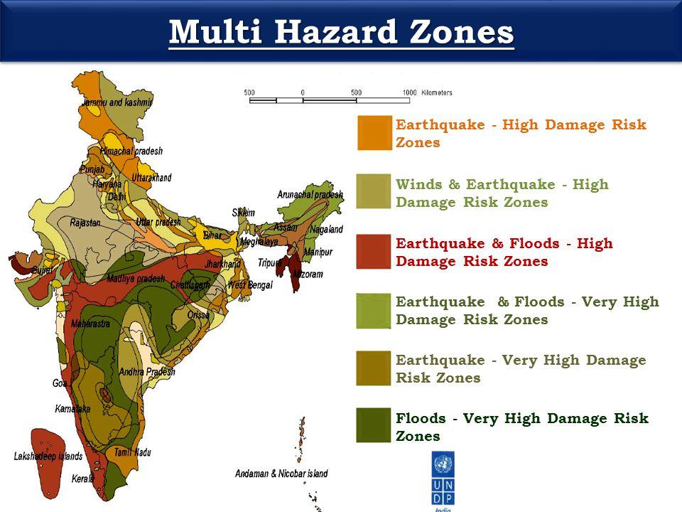 Multi Hazard Zones Earthquake - High Damage Risk Zones