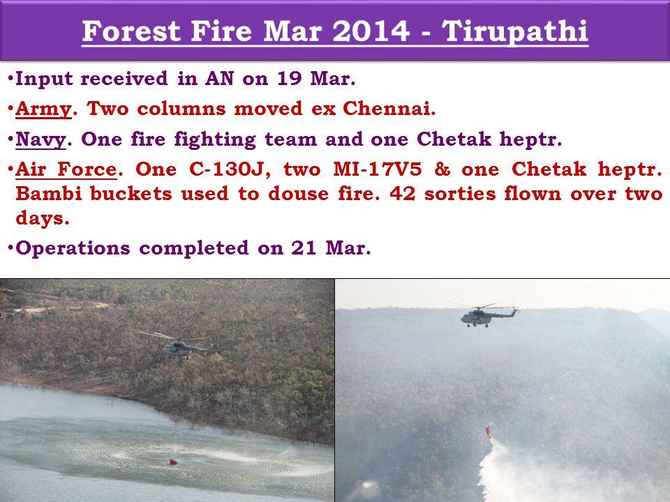 Forest Fire Mar 2014 - Tirupathi