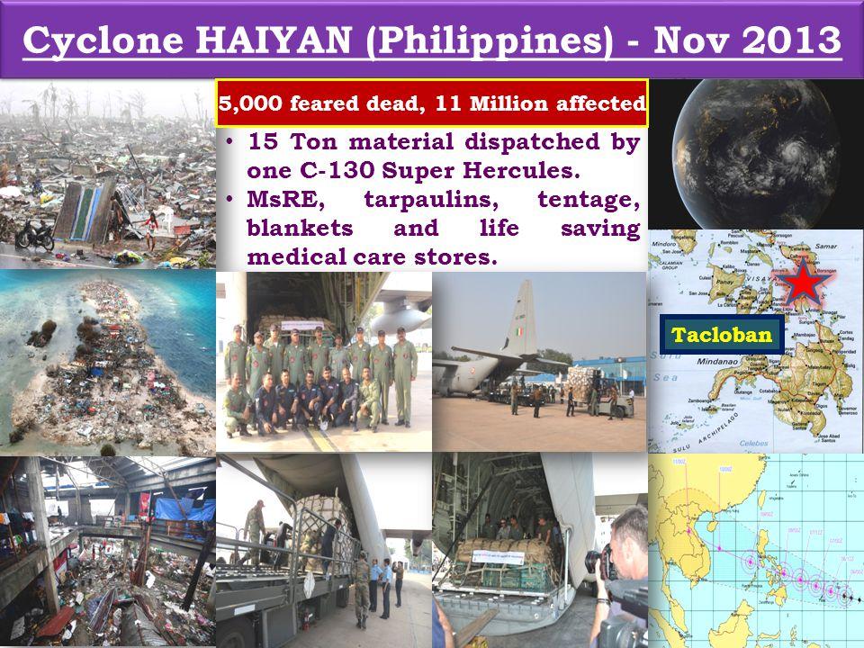 Cyclone HAIYAN (Philippines) - Nov 2013