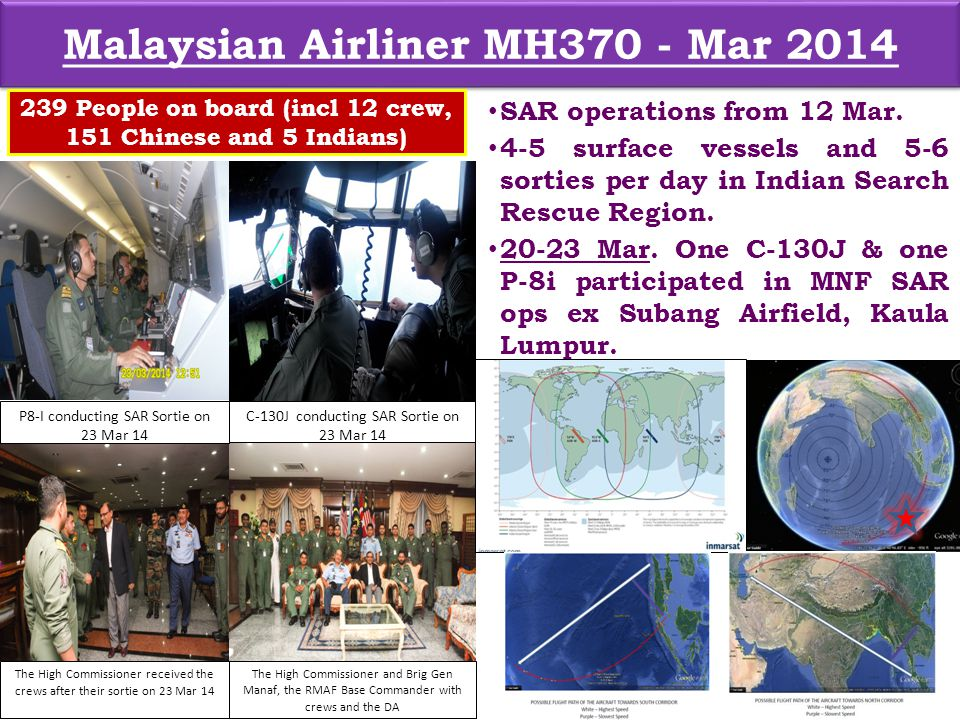 Malaysian Airliner MH370 - Mar 2014