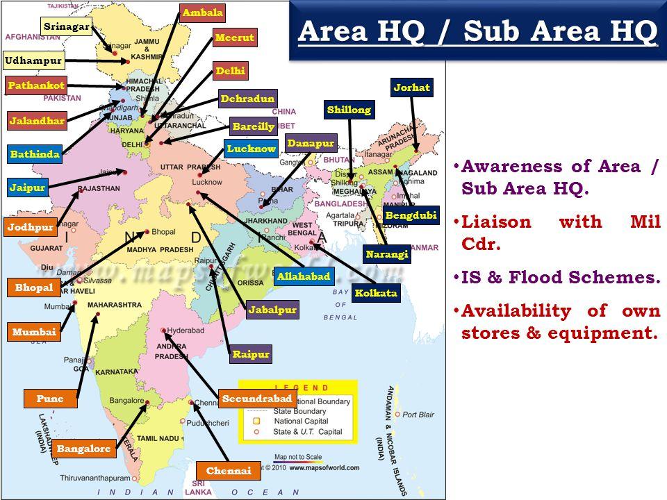 Area HQ / Sub Area HQ Awareness of Area / Sub Area HQ.