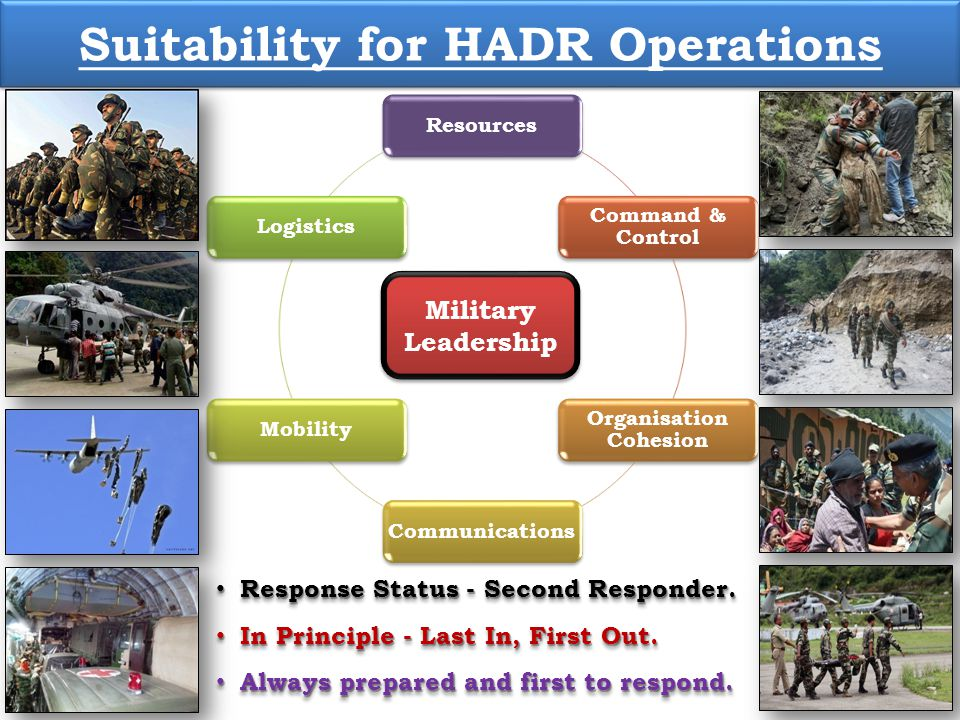 Suitability for HADR Operations